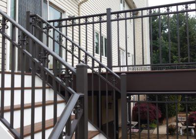 Elegant Bronze Aluminum Railing