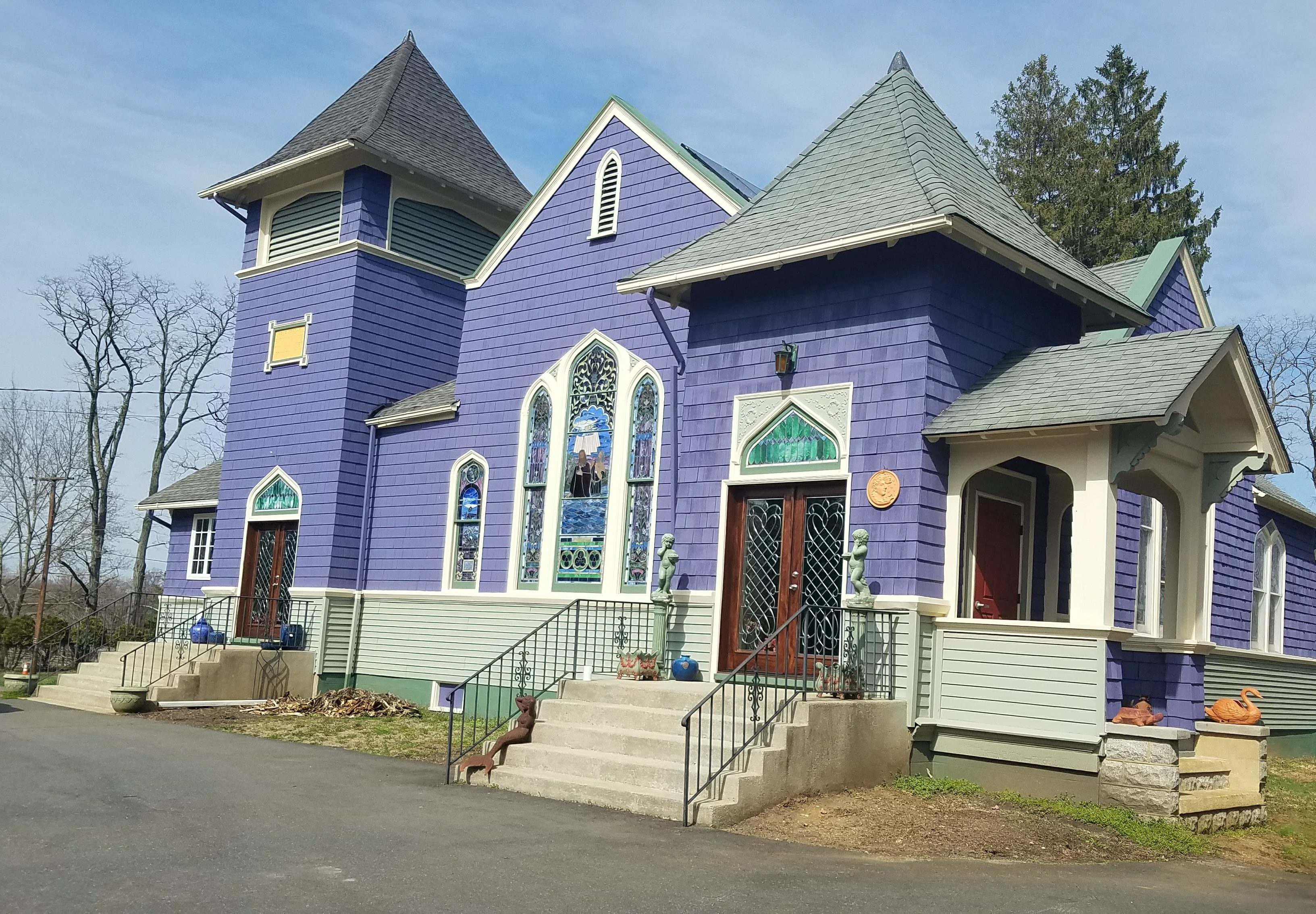 Windows and Doors on a church remodeled into a home