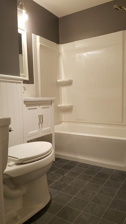 Pristine White New Bathroom
