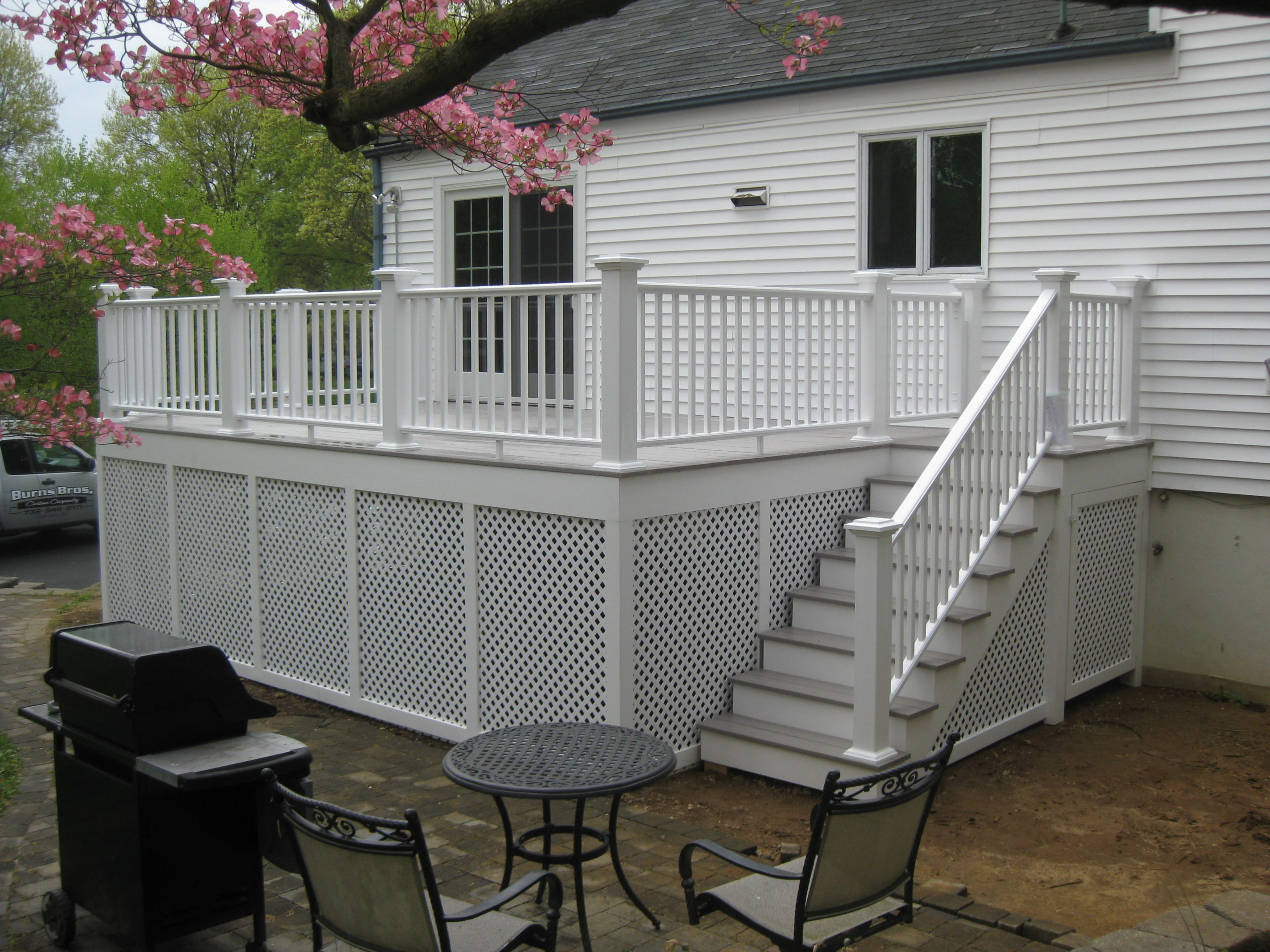 Cool gray composite with white rails