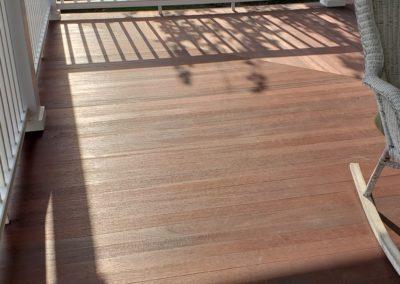 Mahogany porch is timeless