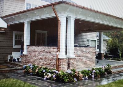 Details matter, brackets, columns and copper gutters