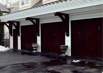 Mahogany and Composite Garage Doors and Brackets
